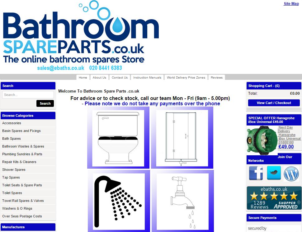 bathroom spare parts scr