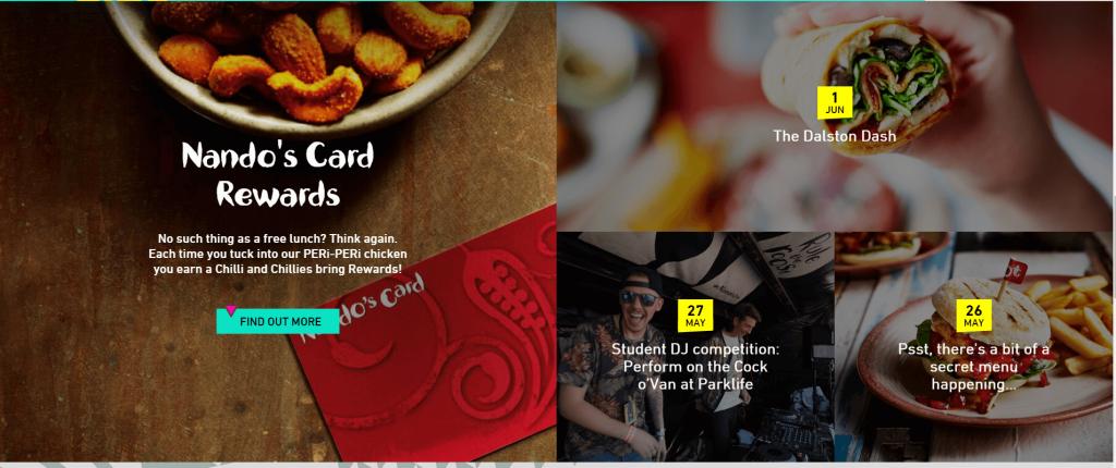 examples of loyalty nandos homepage