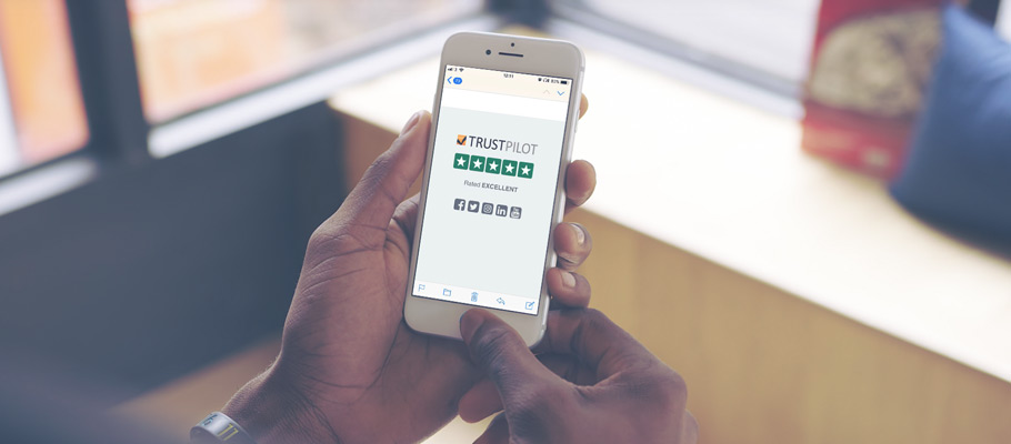 Use your Trustpilot rating