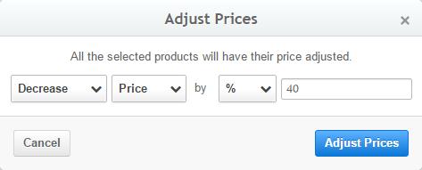 adjust prices