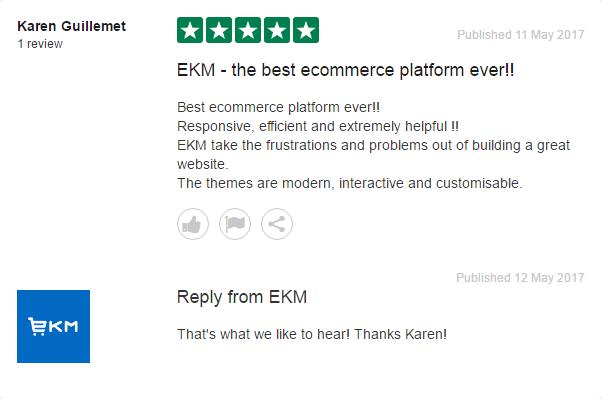 EKM TrustPilot review