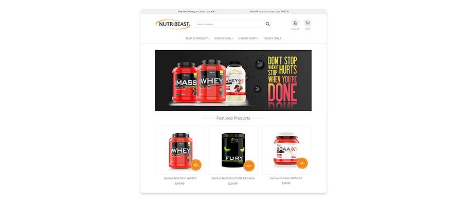 More fitness-related ecommerce sites built with EKM