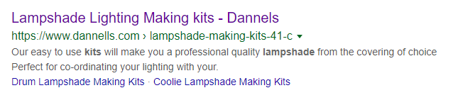 dannells lampshade lighting - seo