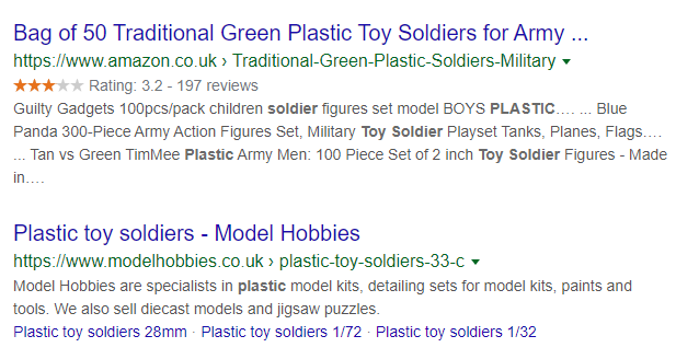 modelhobbies - toy soldiers - seo