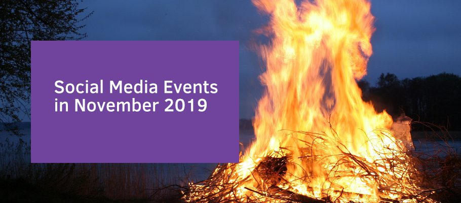 Social Media Events in November 2019