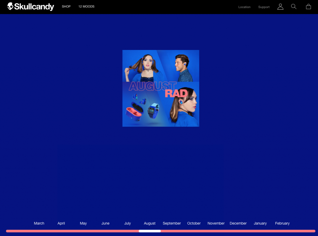 ecommerce website of the year 2019 - skullcandy
