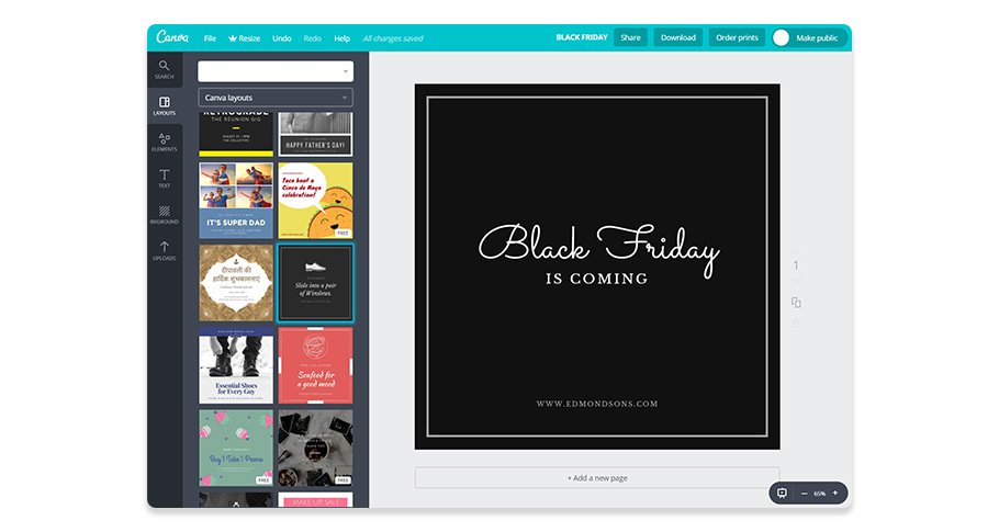 Canva Black Friday