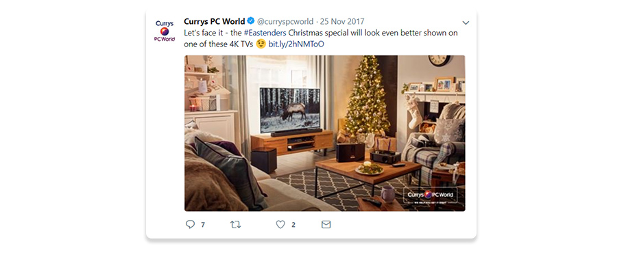 Currys PC World Tweet