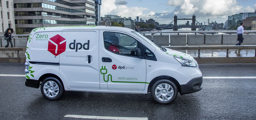 dpd sustainable delivery van