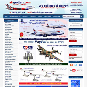eCommerce website design - airspotters