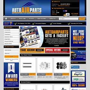 eCommerce website design - autoairparts