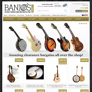 eCommerce website design - banjos