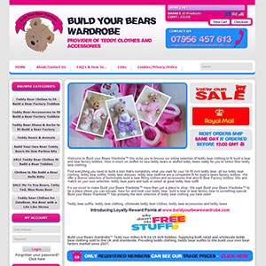 eCommerce website design - bearswardrobe