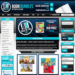eCommerce website design - book