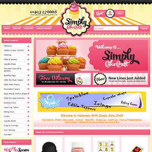eCommerce website design - cake