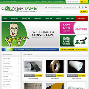 eCommerce website design - covertape