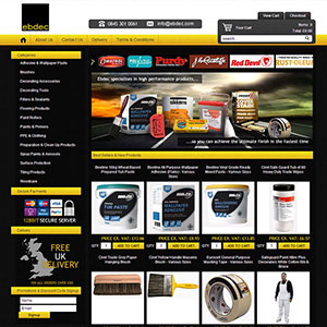 eCommerce website design - ebdec