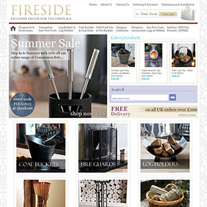 eCommerce website design - firesidesteve