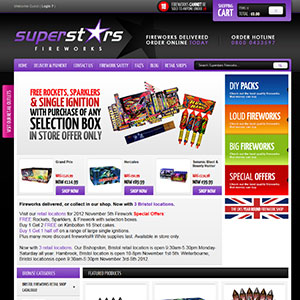 eCommerce website design - fireworks