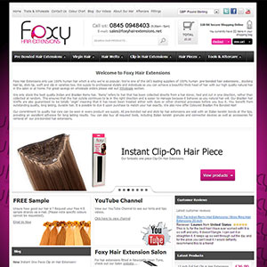 eCommerce website design - foxyhairext