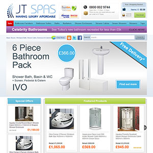 eCommerce website design - jtspasni