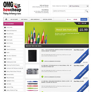 eCommerce website design - omghowcheap