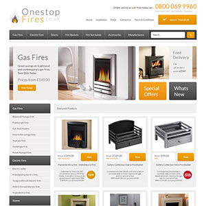 eCommerce website design - onestopfires
