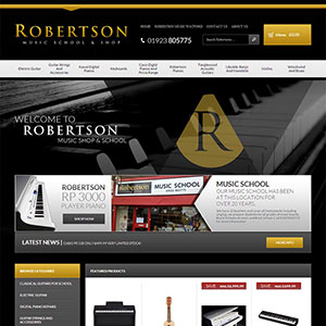 eCommerce website design - robertsonmusic