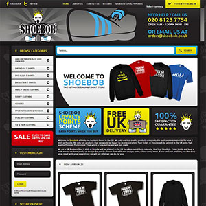 eCommerce website design - shoebob