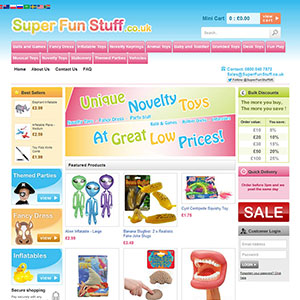 eCommerce website design - superfunstuffc