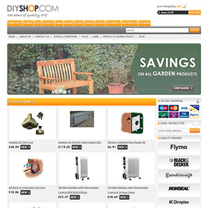 eCommerce website design - thediyshoplt