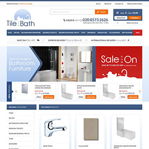 eCommerce website design - tileandbath
