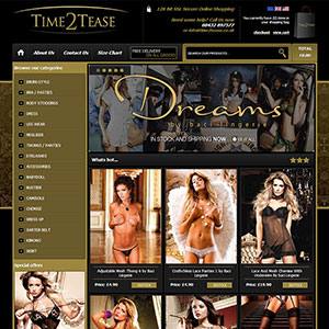 eCommerce website design - time2tease