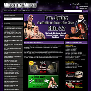 eCommerce website design - wrestlingworld