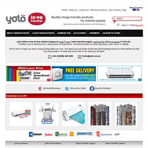eCommerce website design - yolo1