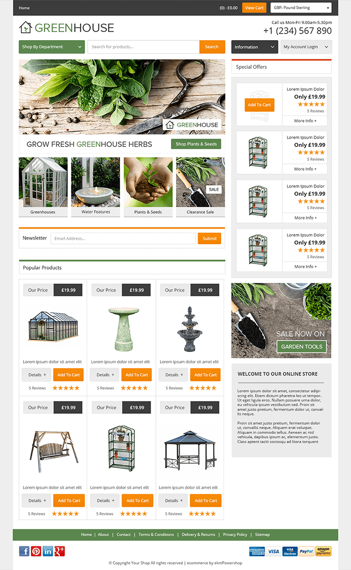 start your free ecommerce website trial and sell online today